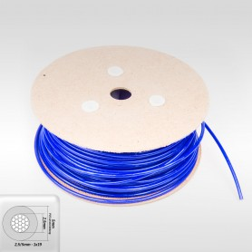 Drahtseil 5mm verzinkt PVC ummantelt blau (Draht 2,5mm - 1x19) 10m bis 100m Stahlseil 5 mm