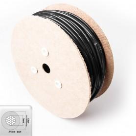 Drahtseil 6mm verzinkt PVC ummantelt schwarz (Draht 3mm - 1x19) 10m bis 100m Stahlseil 6 mm