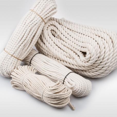 5mm Baumwollseil gedreht aus Naturfasern 50m - Baumwollkordel Baumwollschnur