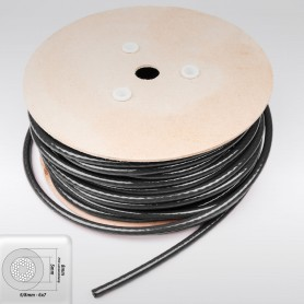 Drahtseil 8mm verzinkt PVC ummantelt schwarz (Draht 5mm - 6x7+FC) 10m bis 100m Stahlseil 8 mm