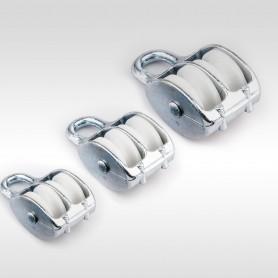 30mm Seilrolle Doppelt mit Öse - Seilblock - Blockseilrollen verzinkt
