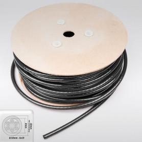 Drahtseil 10mm verzinkt PVC ummantelt Schwarz (Draht 8mm - 6x19+FC) 10m bis 50m Stahlseil 10 mm