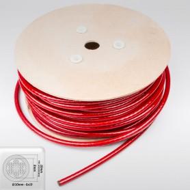 Drahtseil 10mm verzinkt PVC ummantelt rot (Draht 8mm - 6x19+FC) 10m bis 50m Stahlseil 10 mm