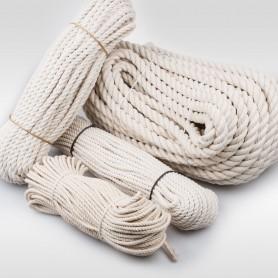 14mm Baumwollseil gedreht aus Naturfasern 50m - Baumwollkordel Baumwollschnur