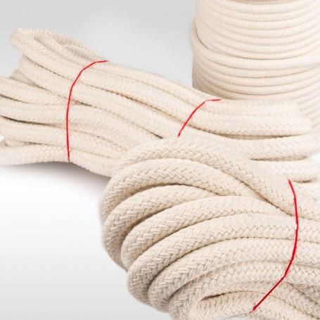 4mm Baumwollseil geflochten aus Naturfasern 500m - Baumwollkordel Baumwollschnur