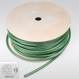 Drahtseil 10mm verzinkt PVC ummantelt grün (Draht 8mm - 6x19+FC) 10m bis 50m Stahlseil 10 mm