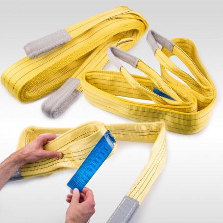 3t Hebeband - 3000kg - verschiedene Längen: 1 bis 10m - Hebebänder Krangurt Bergegurt Hebegurt Gurt