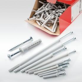10 x 180mm Nageldübel Schlagdübel Einschlagdübel Senkkopf Dübel 50 bis 500 Stück
