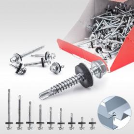 4,8 x 25mm Blechbohrschrauben für Metalluntergrund mit EPDM Dichtscheibe 250 bis 1000 Stück