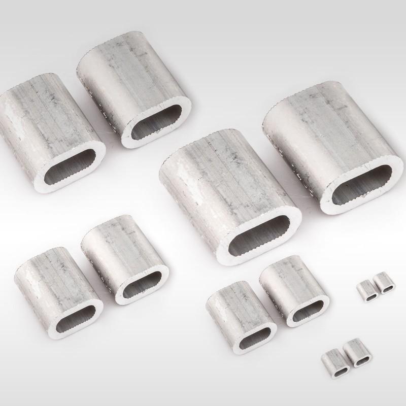 1mm 12mm aluminium pressklemmen pressh lsen f r drahtseil ab 5 st ck. Black Bedroom Furniture Sets. Home Design Ideas