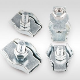 2mm - 8mm Drahtseilklemme Simplex - verzinkt Klemmen für Drahtseil 2mm - 8mm