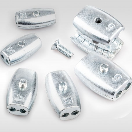 2mm - 6mm Drahtseilklemme Eiform - Aluminium Klemmen für Drahtseil 2mm - 6mm
