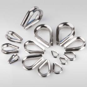 2mm - 10mm Seilkausche Edelstahl - Kauschen Edelstahl für Drahtseil 2mm - 8mm (ab 5 Stück)