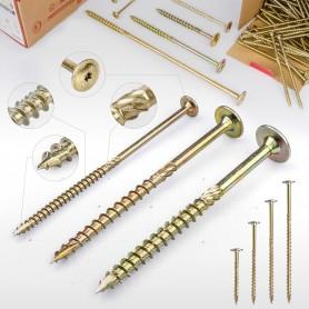 6 x 50mm Tellerkopfschrauben - Holzbauschraube Tellerkopf TX Antrieb (ab 100 Stück)
