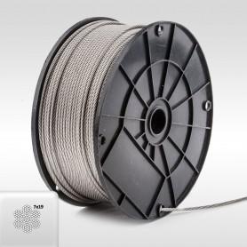 Edelstahlseil 3mm (7x19) - 5 bis 200m Drahtseil INOX AISI316 ISO2408 Stahlseil Edelstahl 3 mm