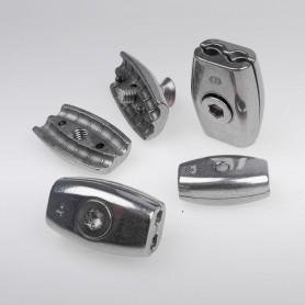 2mm Edelstahl Drahtseilklemme Eiform - A4 INOX 316 AISI 316 Klemmen für Drahtseil 2mm