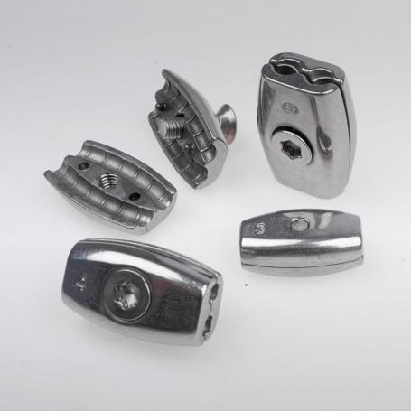 Super 2mm Edelstahl Drahtseilklemme Eiform - A4 INOX 316 AISI 316 VL87