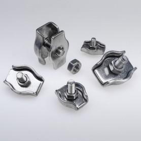 6mm Simplex Drahtseilklemme Edelstahl  - A4 INOX 316 AISI 316 Klemmen für Drahtseil 6mm