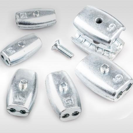 6mm Drahtseilklemme Eiform - Aluminium Klemmen für Drahtseil 6mm