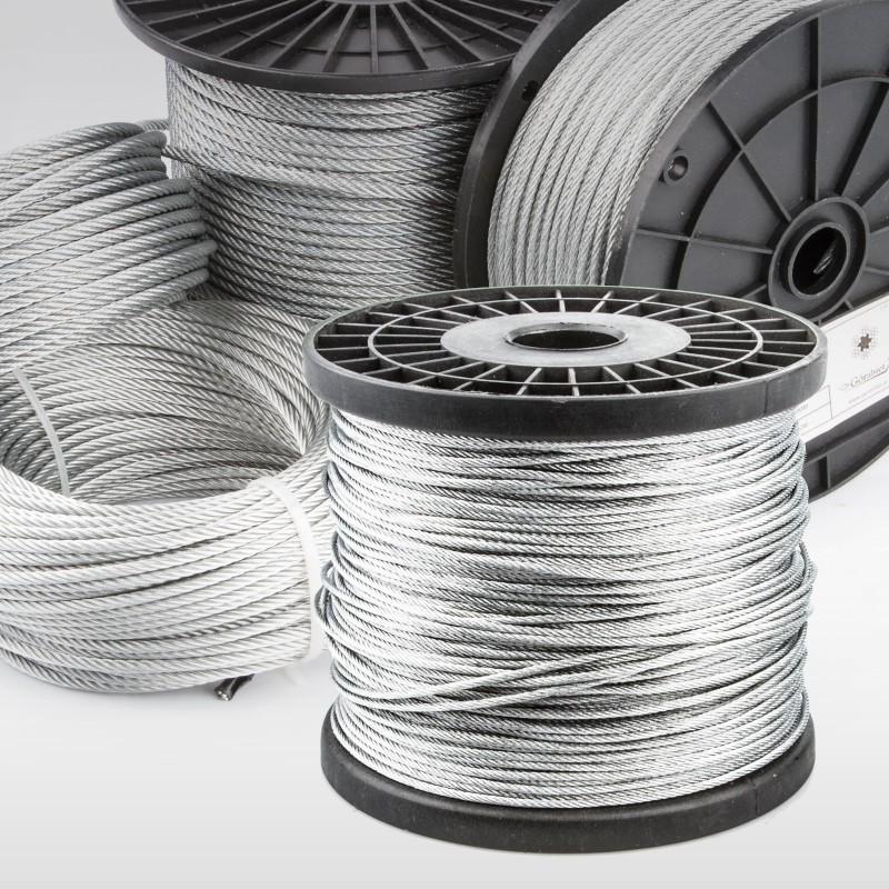 Stahlseil 1mm 200m Seil Seile Stahlseile DIN EN 10mm verzinkt Drahtseil 5m