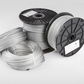 Drahtseil 4mm (6x19+FC) 5m bis 200m EN 12385-4 Stahlseil verzinkt 4 mm