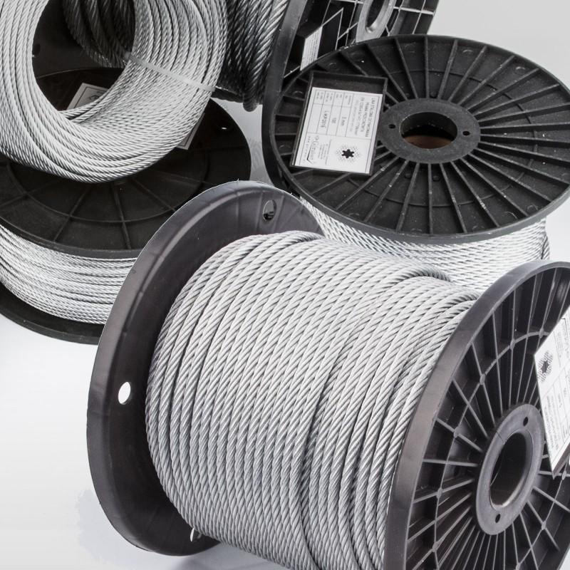 10m VERZINKTES DRAHTSEIL 10mm EN 12385 6x37 Stahlseil Seile Draht Windenseil