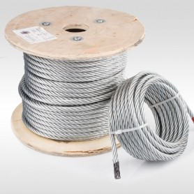 Drahtseil 10mm (6x19+FC) 5m bis 50m EN 12385-4 Stahlseil verzinkt 10 mm