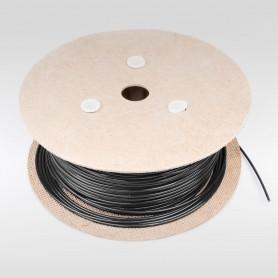 Drahtseil 3mm verzinkt PVC ummantelt schwarz (Draht 1,6mm - 1x7) 10m bis 200m Stahlseil 3 mm