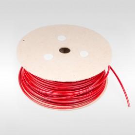Drahtseil 5mm verzinkt PVC ummantelt rot (Draht 2,5mm - 1x19) 10m bis 100m Stahlseil 5 mm