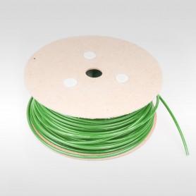 Drahtseil 5mm verzinkt PVC ummantelt grün (Draht 2,5mm - 1x19) 10m bis 100m Stahlseil 5 mm
