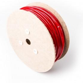 Drahtseil 6mm verzinkt PVC ummantelt rot (Draht 3mm - 1x19) 10m bis 100m Stahlseil 6 mm