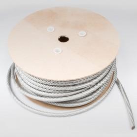 Drahtseil 8mm verzinkt PVC ummantelt Transparent (Draht 5mm - 6x7+FC) 10m bis 100m Stahlseil 8 mm