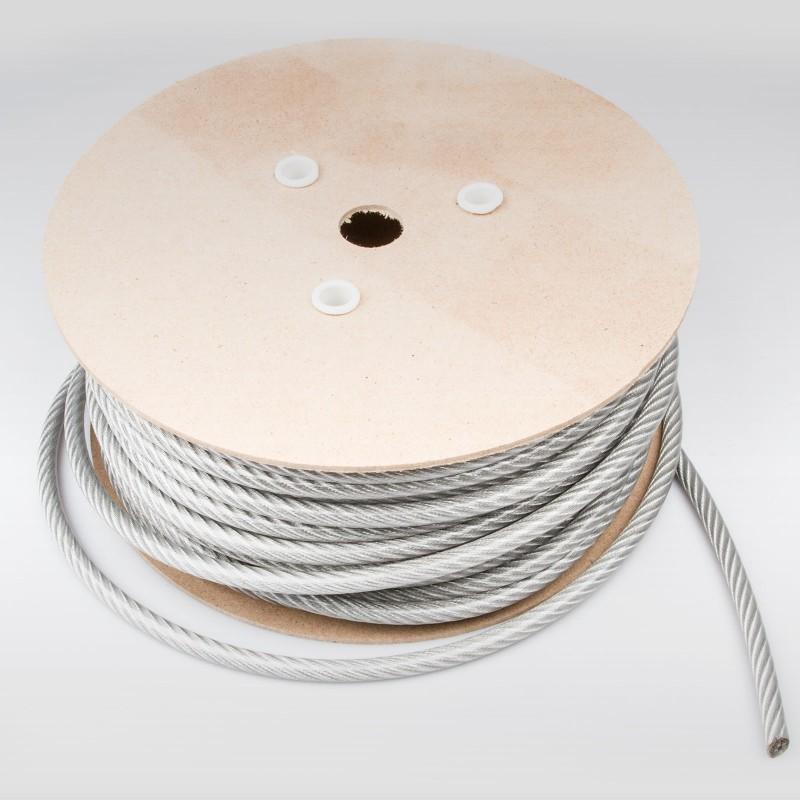 100m STAHLSEIL SCHWARZ PVC 5mm auf 8mm 6x7 verzinkt Drahtseil Draht Stahlseile