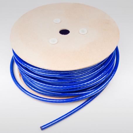 Drahtseil 10mm verzinkt PVC ummantelt blau (Draht 8mm - 6x19+FC) 10m bis 50m Stahlseil 10 mm