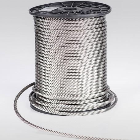 Edelstahlseil 6mm (7x19) - 5 bis 100m Drahtseil INOX AISI316 ISO2408 Stahlseil Edelstahl 6 mm