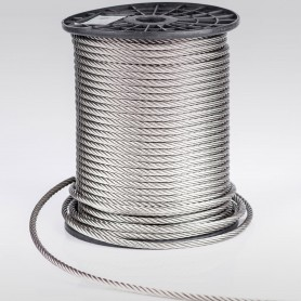 Edelstahlseil 8mm (7x19) - 5 bis 100m Drahtseil INOX AISI316 ISO2408 Stahlseil Edelstahl 8 mm