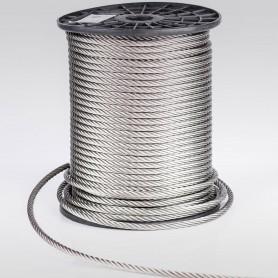 Edelstahlseil 10mm (7x19) - 5 bis 70m Drahtseil INOX AISI316 ISO2408 Stahlseil Edelstahl 10 mm