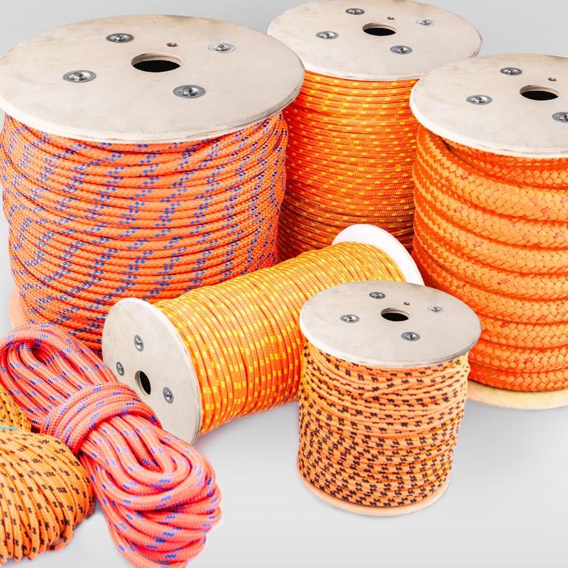 Seil orange PE Polyseil 10 mm 10-30 m Docken Polyethylen