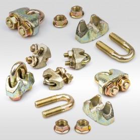 10mm Sicherheits-Drahtseilklemme Bügel EN 13411-5 - Klemmen für Drahtseil 10mm