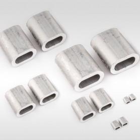 6mm Aluminium Pressklemmen - Presshülsen für Drahtseil 6mm (ab 5 stück)