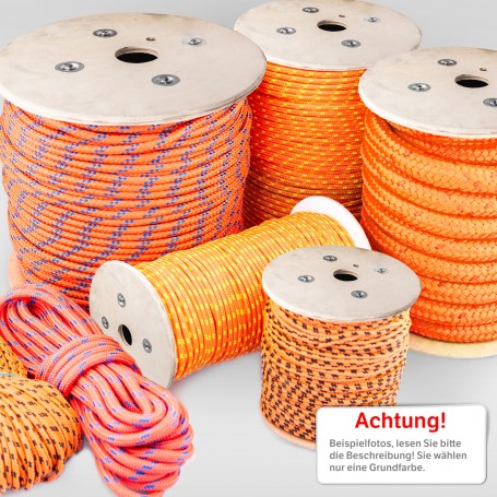 2mm Polypropylenseil orange 600m - PP Seil Polypropylen