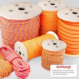 6mm Polypropylenseil orange - PP Seil (Meterware: 10m - 300m)