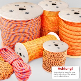 8mm Polypropylenseil orange - PP Seil (Meterware: 10m - 200m)