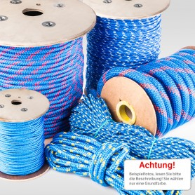 6mm Polypropylenseil blau - PP Seil (Meterware: 10m - 200m)