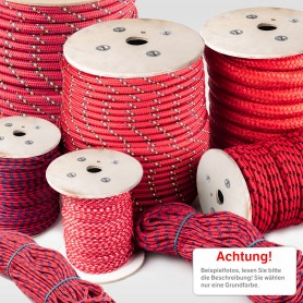 22mm Polypropylenseil rot - PP Seil (Meterware: 10m - 50m)