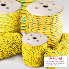 22mm Polypropylenseil gelb - PP Seil (Meterware: 10m - 50m)