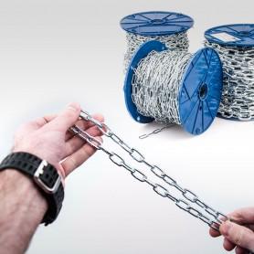 3mm Stahlkette DIN 5685A - kurzgliedrig Rundstahlkette (Meterware: 1m - 60m)