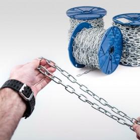 4mm Stahlkette DIN 5685A - kurzgliedrig Rundstahlkette (Meterware: 1m - 40m)
