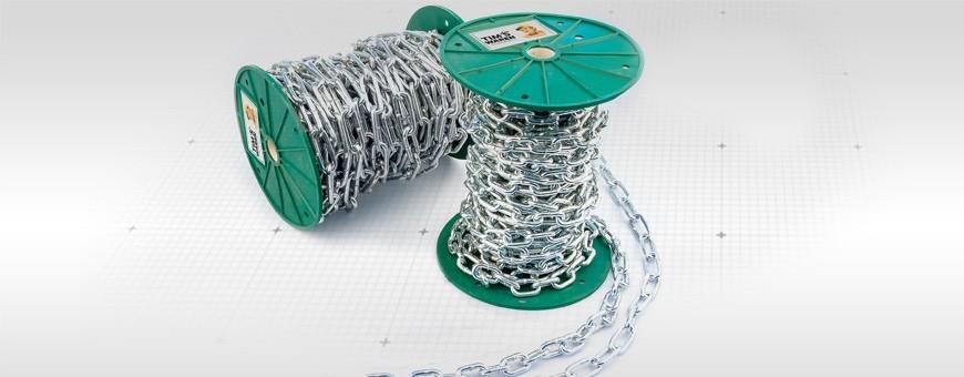 Stahlkette verzinkt kurzgliedrig A1 Meterware: 1m-150m Seiloo.de