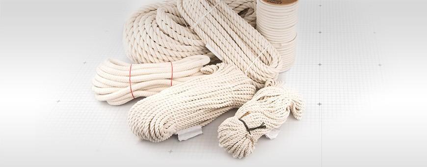 Baumwollseil gedreht Länge: 50m Baumwollseil geflochten 20m bis 500m